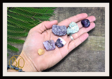 Load image into Gallery viewer, JUPITER Gemstone Kit 6 Healing Jupiter Gemstone Set Healing Crystal Stones for Planet Jupiter Healing Intention Stone Lithiotherapy Jupiter