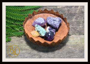 JUPITER Gemstone Kit 6 Healing Jupiter Gemstone Set Healing Crystal Stones for Planet Jupiter Healing Intention Stone Lithiotherapy Jupiter