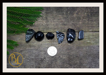 Load image into Gallery viewer, SATURN Gemstone Kit 6 Healing Saturn Gemstone Set Healing Crystal Stones for Planet Saturn Healing Intention Stone Lithiotherapy Saturn