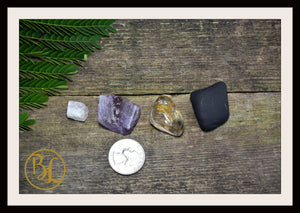 PLUTO Gemstone Kit 5 Healing Pluto Gemstone Set Healing Crystal Stones for Dwarf Planet Pluto Healing Intention Stone Lithiotherapy Pluto