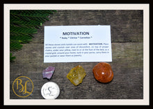 Load image into Gallery viewer, MOTIVATION Gemstone Kit 3 Healing Motivation Gemstone Set Healing Crystals Stones for Motivation Healing Intention Stones Lithiotherapy