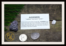 Load image into Gallery viewer, ALZHEIMERS Gemstone Kit 3 Healing Alzheimers Gemstone Set Healing Crystals Stones for Alzheimers Healing Intention Stones Lithiotherapy
