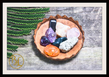 Load image into Gallery viewer, FATIGUE Gemstone Kit 8 Healing Fatigue Gemstone Set Healing Crystals Stones Fatigue Healing Intention Stones Lithiotherapy Fatigue Crystals