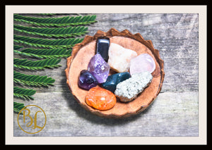 FATIGUE Gemstone Kit 8 Healing Fatigue Gemstone Set Healing Crystals Stones Fatigue Healing Intention Stones Lithiotherapy Fatigue Crystals