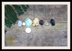 INFECTIONS Gemstone Kit 7 Healing Infections Gemstone Set Healing Crystals Stones for Infections Healing Intention Stones Lithiotherapy