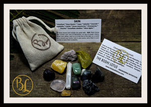 SKIN Gemstone Kit 12 Healing Skin Gemstone Set Healing Crystal Stones for Skin Healing Intention Stones Lithiotherapy Skin Stones