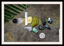 Load image into Gallery viewer, SKIN Gemstone Kit 12 Healing Skin Gemstone Set Healing Crystal Stones for Skin Healing Intention Stones Lithiotherapy Skin Stones