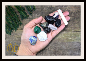 EPILEPSY Gemstone Kit 10 Healing Epilepsy Gemstone Set Healing Crystal Stones for Epilepsy Healing Intention Stones Lithiotherapy Epilepsy