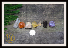 Load image into Gallery viewer, SUN Gemstone Kit 7 Healing Sun Gemstone Set Healing Crystal Stones for The Sun Healing Intention Stone Lithiotherapy Sun Crystals and Stones