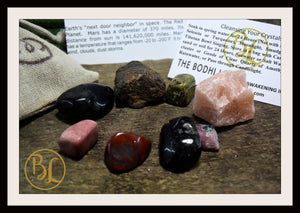 MARS Gemstone Kit 8 Healing Mars Gemstone Set Mars Healing Crystal Stones for Planet Mars Healing Intention Stone Lithiotherapy Mars Crystal