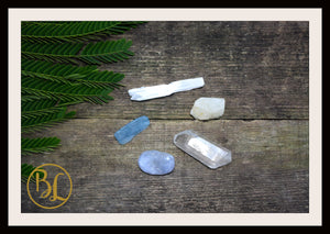 MOON Gemstone Kit 5 Healing Moon Gemstone Set Moon Healing Crystal Stones for MoonHealing Intention Stone Lithiotherapy Moon Crystal Stones