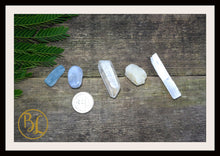 Load image into Gallery viewer, MOON Gemstone Kit 5 Healing Moon Gemstone Set Moon Healing Crystal Stones for MoonHealing Intention Stone Lithiotherapy Moon Crystal Stones