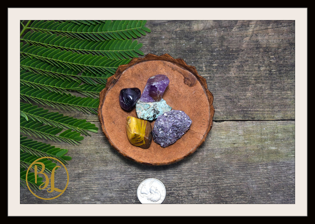 NEPTUNE Gemstone Kit 5 Healing Neptune Gemstone Set Healing Crystal Stones for Planet Neptune Healing Intention Stone Lithiotherapy Neptune