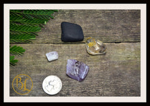 Load image into Gallery viewer, PLUTO Gemstone Kit 5 Healing Pluto Gemstone Set Healing Crystal Stones for Dwarf Planet Pluto Healing Intention Stone Lithiotherapy Pluto