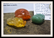 Load image into Gallery viewer, CREATIVITY Gemstone Kit 3 Healing Creativity Gemstone Set Healing Crystals Stones for Creativity Healing Intention Stones Lithiotherapy