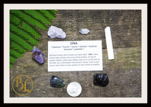 Load image into Gallery viewer, DNA Gemstone Kit 6 Healing DNA Gemstone Set Healing Crystals Stones DNA Healing Intention Stones Lithiotherapy Crystals Stones for D N A