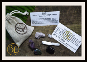 DNA Gemstone Kit 6 Healing DNA Gemstone Set Healing Crystals Stones DNA Healing Intention Stones Lithiotherapy Crystals Stones for D N A