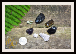 ADDICTIONS Gemstone Kit 7 Healing Addictions Gemstone Set Healing Crystals Stones Addiction Healing Intention Stones Lithiotherapy Addiction