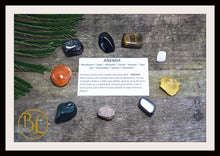 Load image into Gallery viewer, ANEMIA Gemstone Kit 9 Healing Anemia Gemstone Set Healing Crystals Stones Anemia Healing Intention Stones Lithiotherapy Anemia Crystals