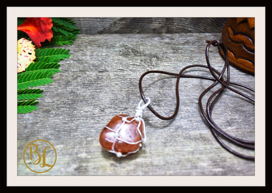 Carnelian 925 Sterling Silver Wire Pendant and 2mm Leather Cord Choose your leather Cord Carnelian Pendant Necklace Carnelian Silver Pendant