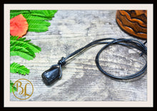 Load image into Gallery viewer, Black Tourmaline Pendant Leather Cord Choose your leather Cord Black Tourmaline Pendant Necklace Black Tourmaline Pendant Black Tourmaline