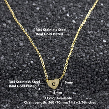 Load image into Gallery viewer, Small Letters c Necklace Gold Color Initial Pendant Chain Stainless Steel Heart c Necklaces Women Men English Letter Jewelry