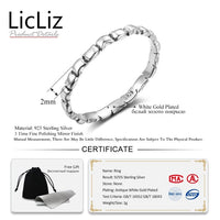 LicLiz 925 Sterling Silver Hollow Braided Twist Of Fate Cross Rings for Women Ring Star Leaf Heart V Chevron Jewelry LR0468