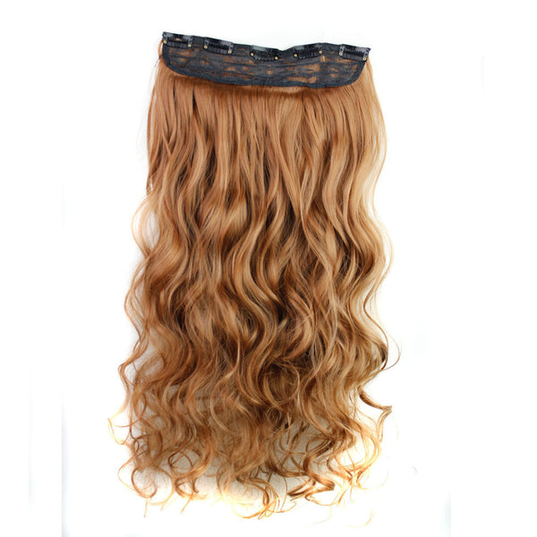 5 Pcs Clips Synthetic Curly Hair Extensions