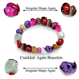 7 Chakra Healing Crystals Natural Stone Chips Single Strand Bracelets