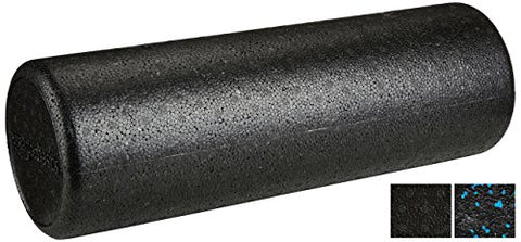 AmazonBasics High-Density Foam Roller - 18 Inches, Black