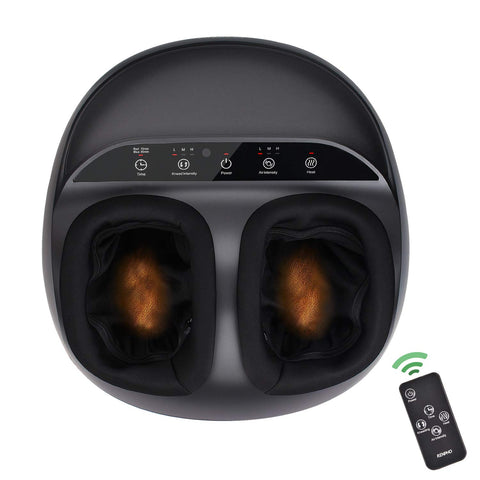 RENPHO Shiatsu Foot Massager Machine with Heat, Deep Kneading Therapy, & Air Compression - Remote Control
