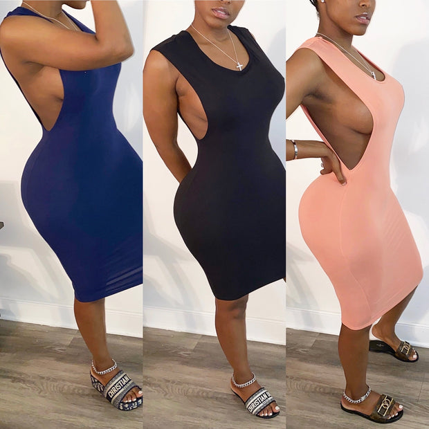 Side Boob Body Con Dress
