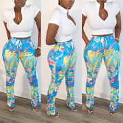 Tropical Babe Ruched Pants
