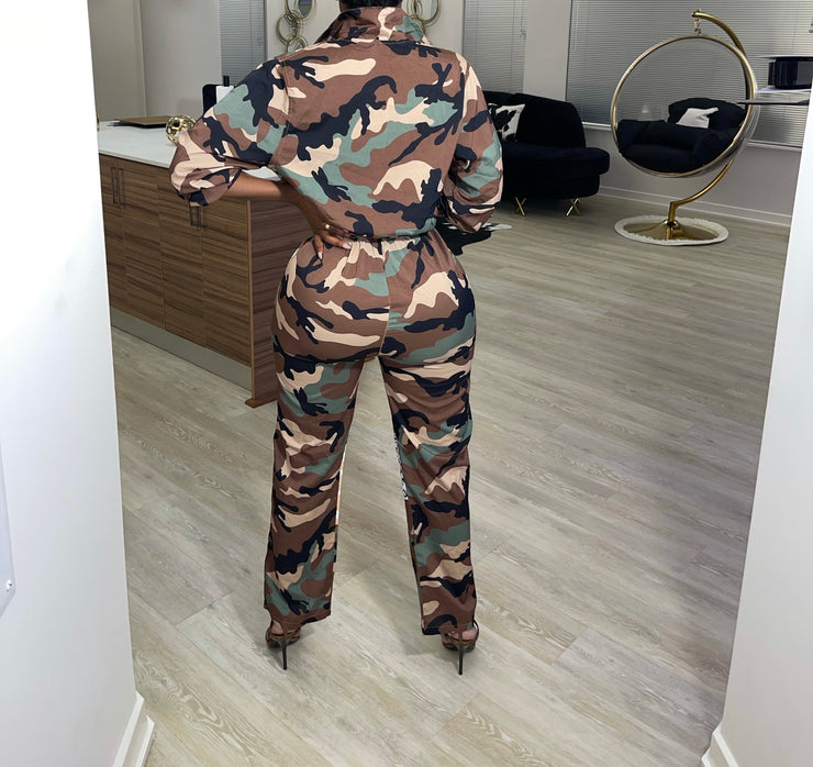 Army Patchwork Jumpsuit (Limited Release)