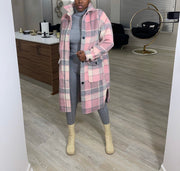 Plaid Wool Coat (Ships 1/25)