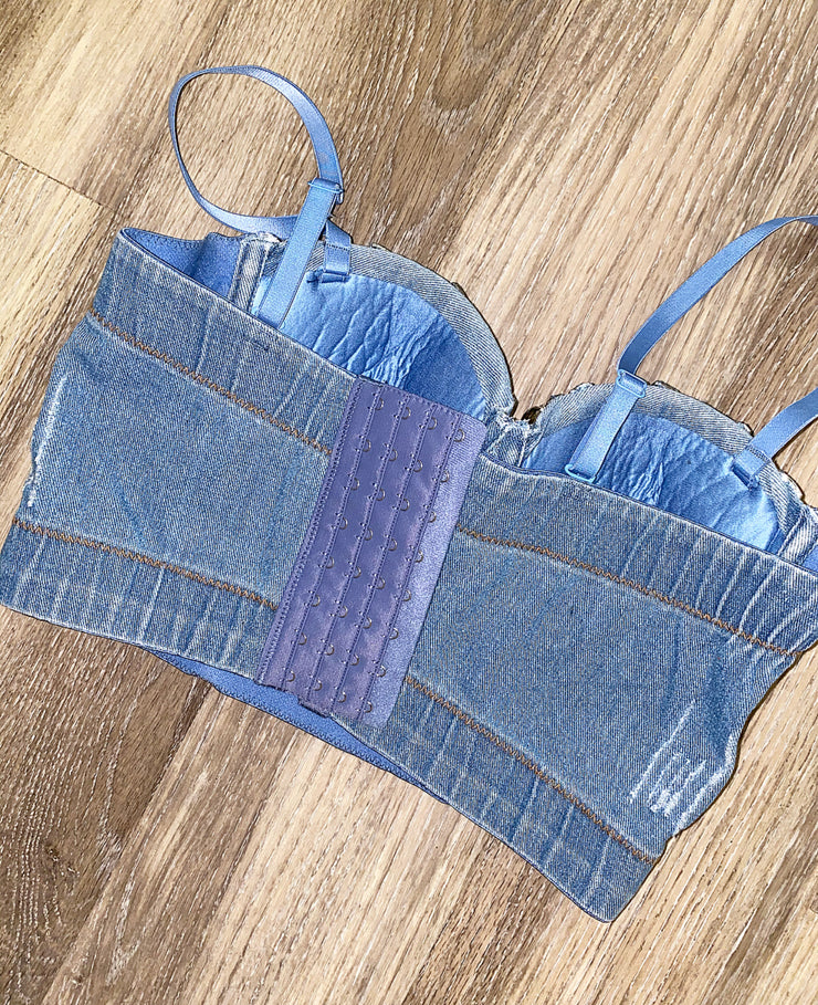 Barbie Girl Denim Bustier
