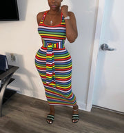 Taste The Rainbow Midi Dress