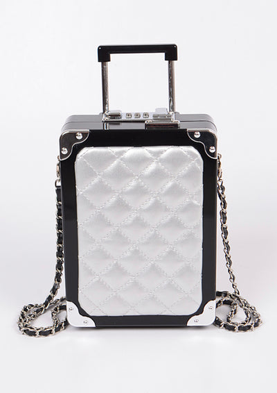 Mini Suitcase Clutch Bag (2 colors)