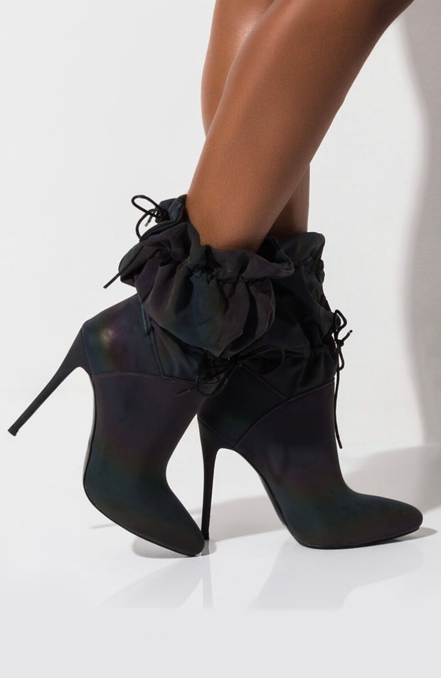 Reflective Drawstring Booties