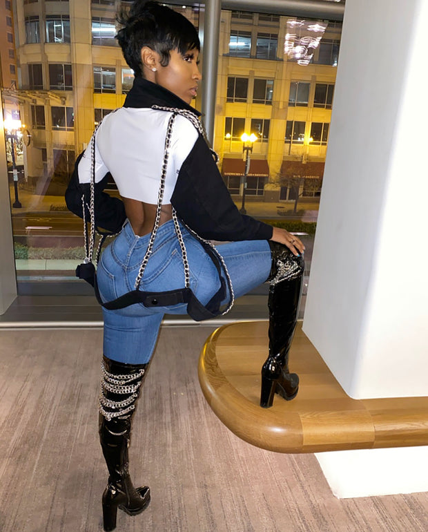 Chain Gang Knee Boots