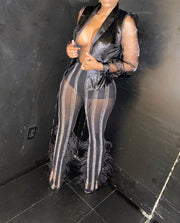 Icy Sheer Pants Suit Set (LIMITED RELEASE)