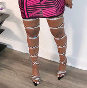 Diamond Wrapped Strappy Heels (LIMITED RELEASE)