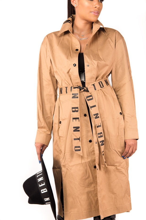 2-Way Trench Jacket Dress