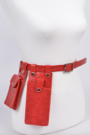 Croc Pocket Fanny Belt