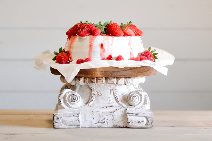 How to Make the Most Unique Farmhouse Cake Stand