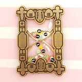 **PRE-ORDER** Soot Sprite Hourglass Stacked Pin - Pastel Variant