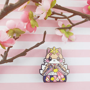 Girls Day Hinamatsuri Enamel Pins ~ Lady Kitsune