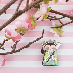 Girls Day Hinamatsuri Enamel Pins ~ Drunk Helper Monkey