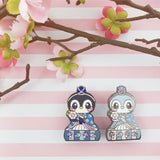 Girls Day Hinamatsuri Enamel Pins ~ Drummer Penguin