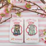 Girls Day Hinamatsuri Enamel Pins ~ Drunk Helper Owl